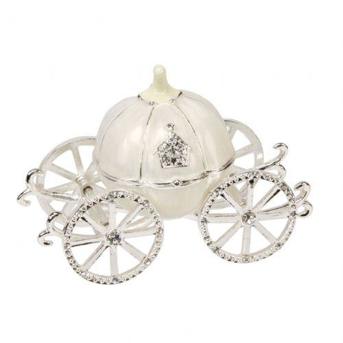 Small Cinderella Carriage Minature Trinket Box Baby Gift and Cake Topper